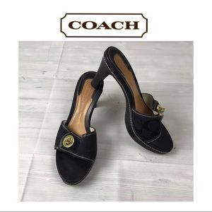 Coach Black Mules. Sz 7.5B